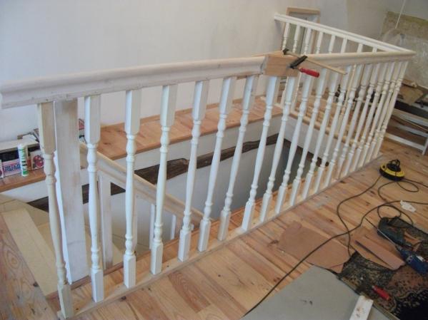 Ik maak een balustrade superieur de luxe in mijn franse huis nou u fredvanderwal 39 s weblog - Balustrade trap ...