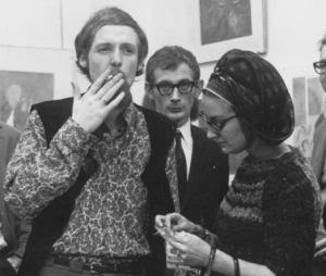 Fred van der Wal met Cat S., Galerie Mokum, Amsterdam 1967